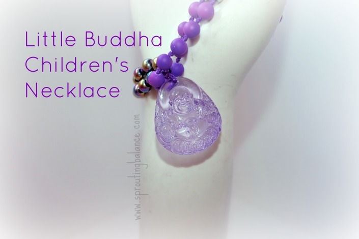 Little Buddha Children's Necklace | www.sproutingbalance.com | #Buddha #Yoga #Necklace #Children #Meditation