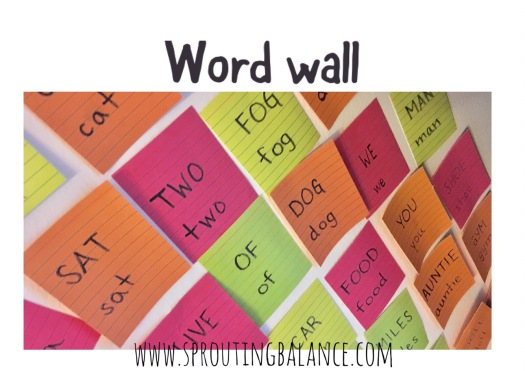 Word Wall | www.sproutingbalance.com | #literacy #reading