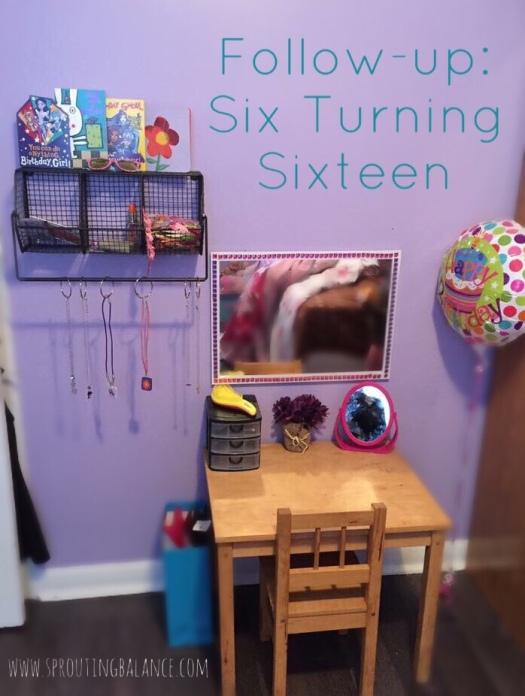 Follow-up: Six Turning Sixteen | www.sproutingbalance.com | #glam #birthday #girl #gift