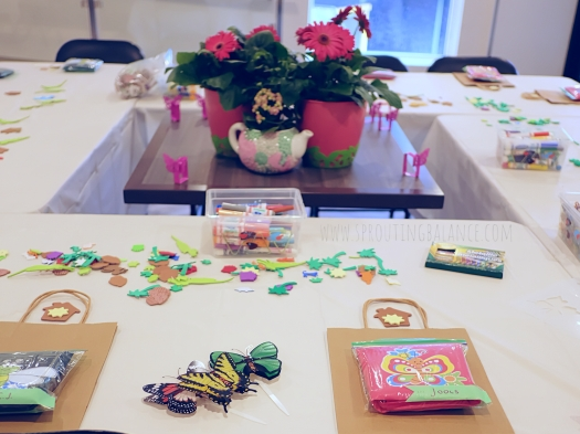 7th Birthday - Butterfly Garden | www.sproutingbalance.com | #butterfly #garden #birthday #decorations #crafts