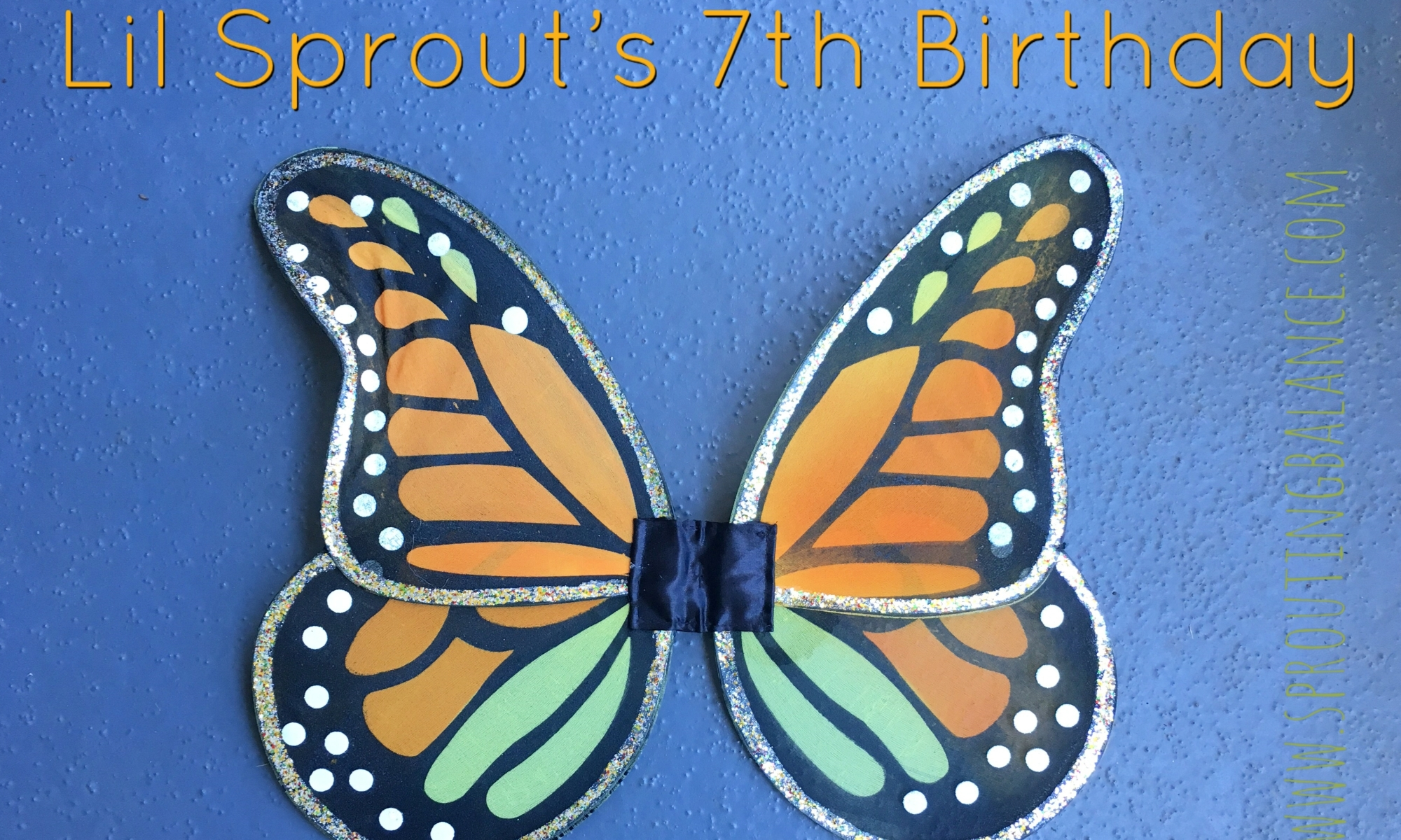 Lil Sprout's 7th Birthday - Butterfly Garden | www.sproutingbalance.com | #butterfly #garden #birthday #girl #crafts #gardening