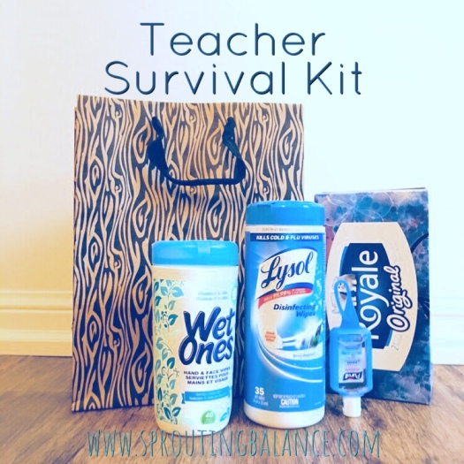Teacher Survival Gift | www.sproutingbalance.com | #teacher #gift #survival #useful