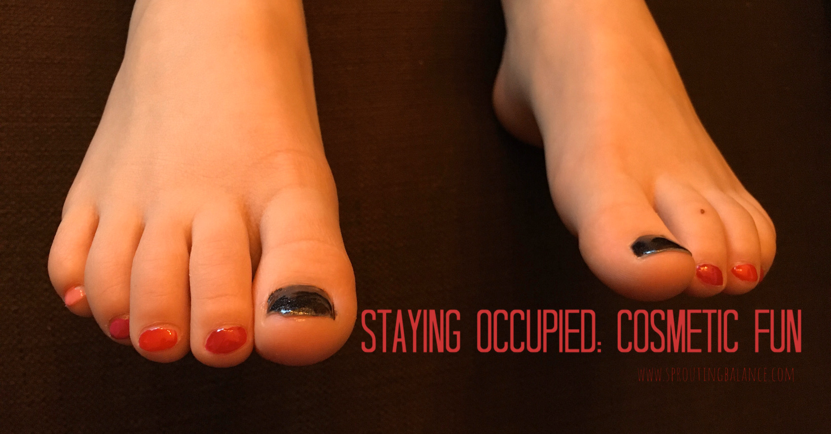 Staying Occupied: Cosmetic Fun | www.sproutingbalance.com | #stayhome #socialdistancing #bepositive