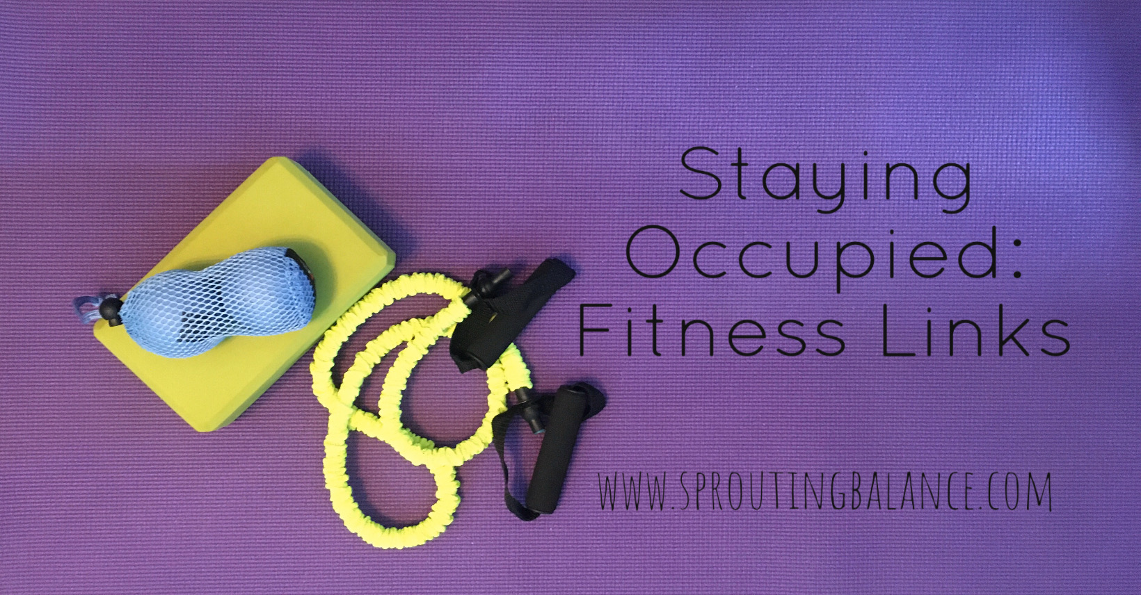 Staying Occupied: Fitness Links | www.sproutingbalance.com | #stayhome #socialdistancing #bepositive
