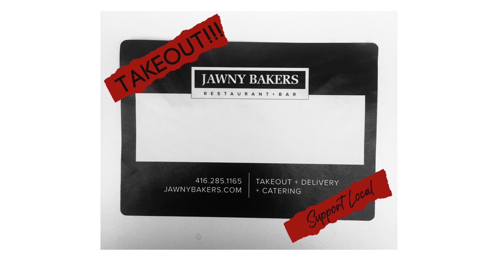 Staying Occupied: Takeout - Support Local - Jawny Baker | www.sproutingbalance.com | #stayhome #socialdistancing #bepositive